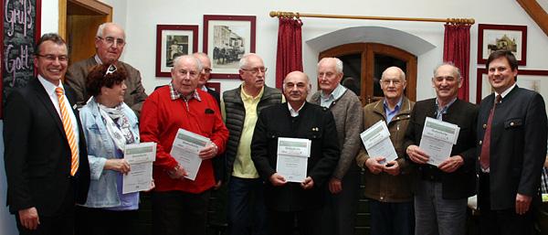 Mitgliederehrung in Teisendorf und Oberteisendorf