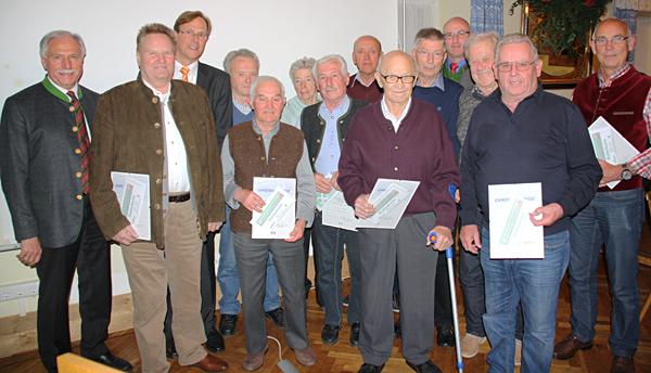 Mitgliederehrung in Saaldorf-Surheim