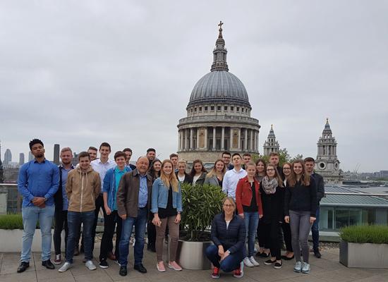 Teilnehmer der Finanzexkursion